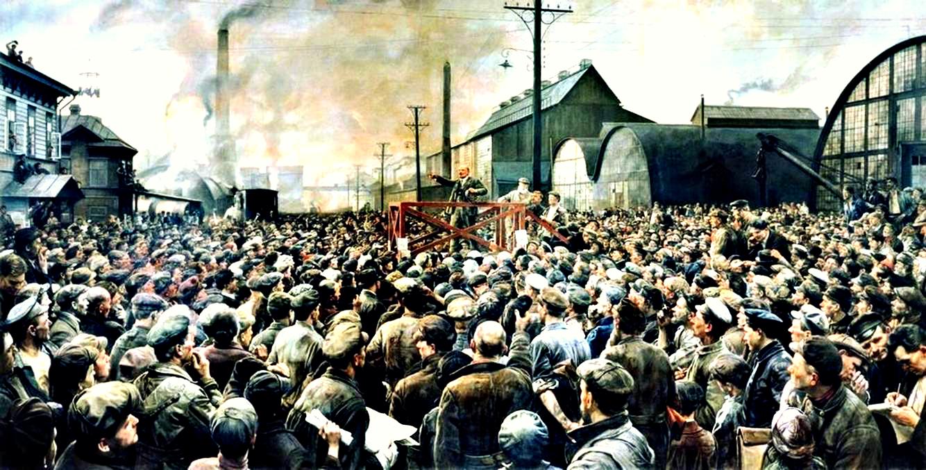Бродский И.И. Выступление Ленина на Путиловском заводе (1929)