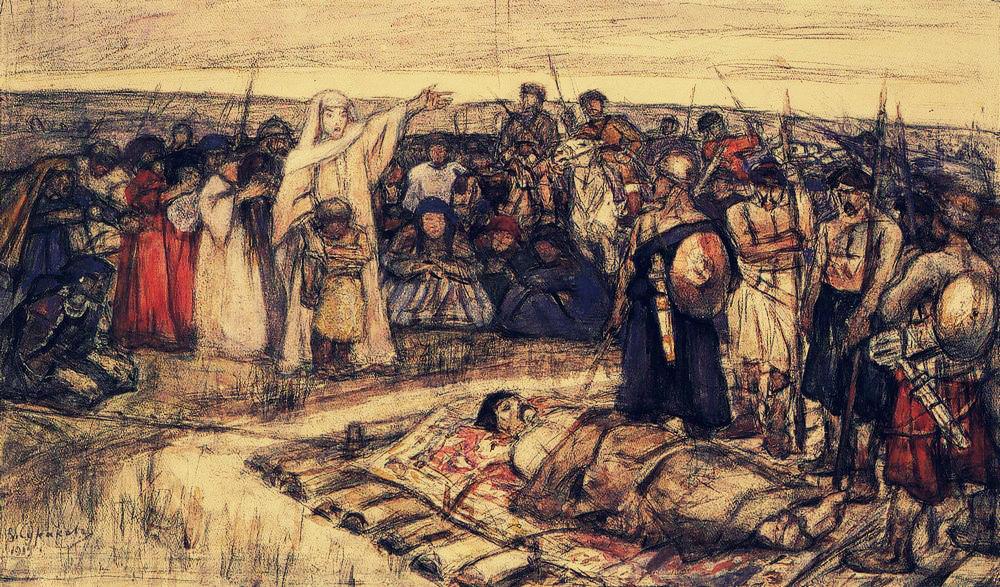 В.Суриков. Ольга встречает тело игоряjpg