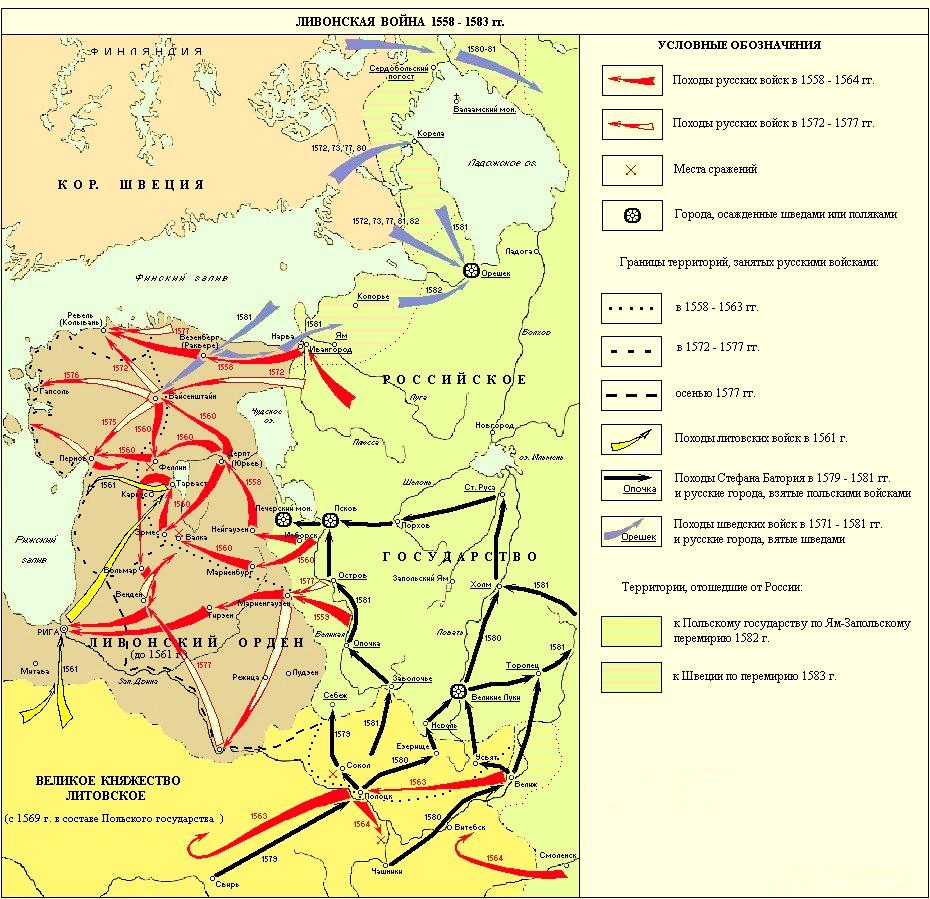 Расширение территории России в XVI в.: