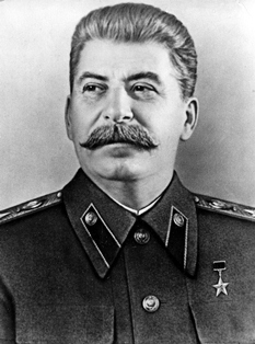 An official portrait of Soviet Premier Josef Stalin is issued to commemorate his 70th birthday on Dec. 21, 1949 .  (AP Photo)