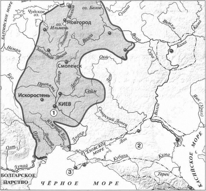 карта 8 век