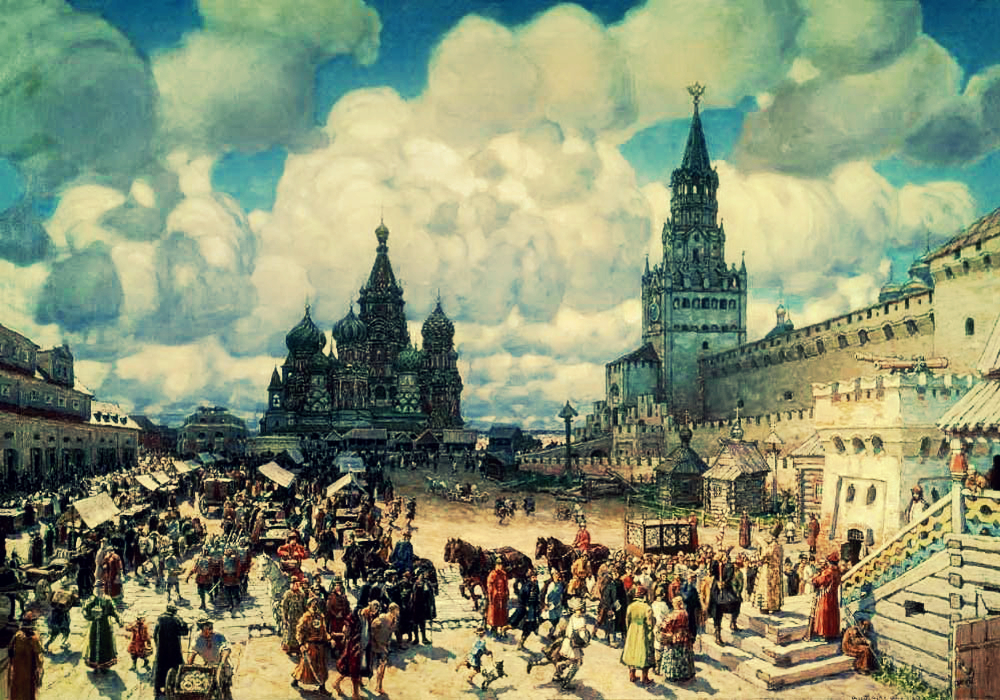Васнецов Аполлинарий Красная площадь во второй половине XVII века