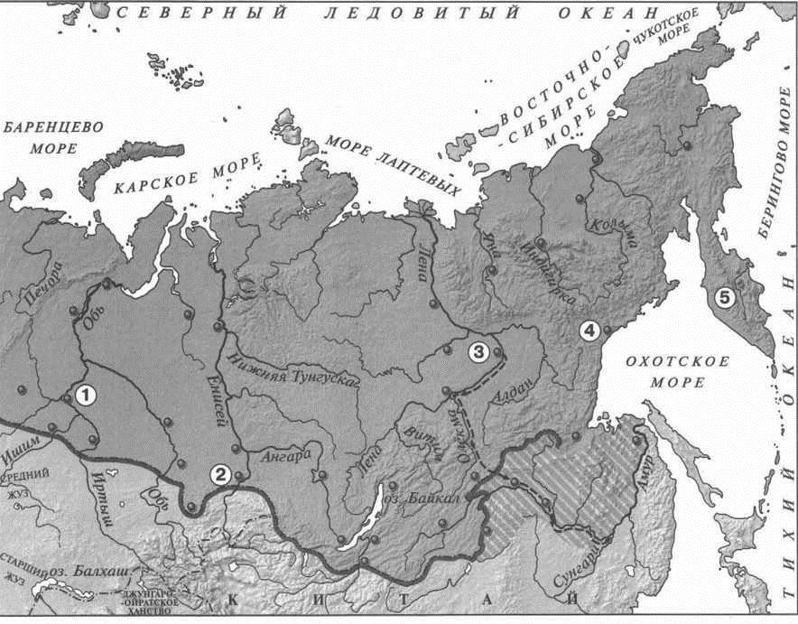карта экспедиций 17 в