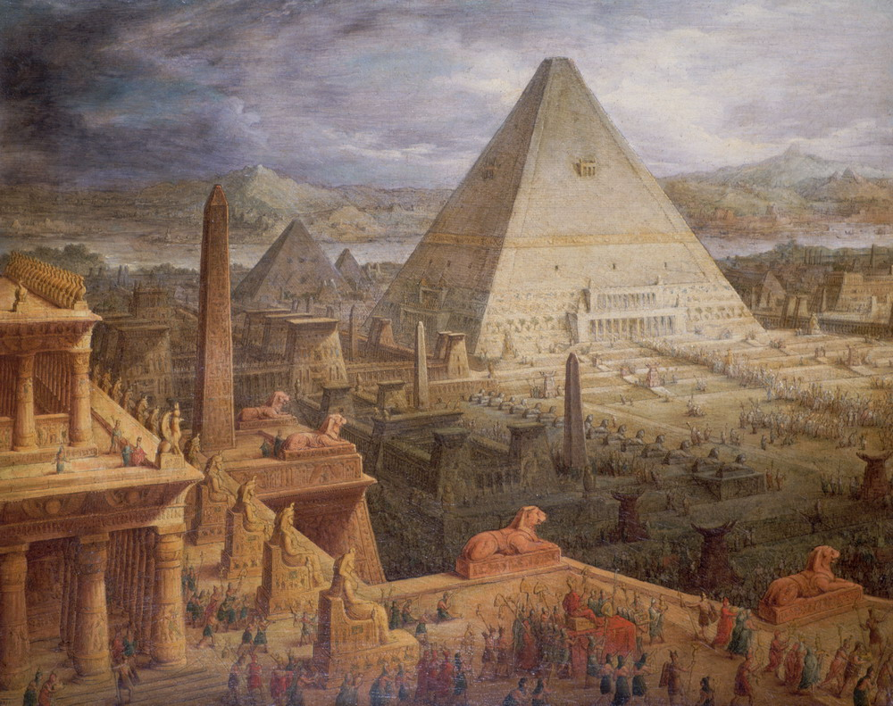 Painting of Ancient Egyptian Architecture by Antonio Basoli