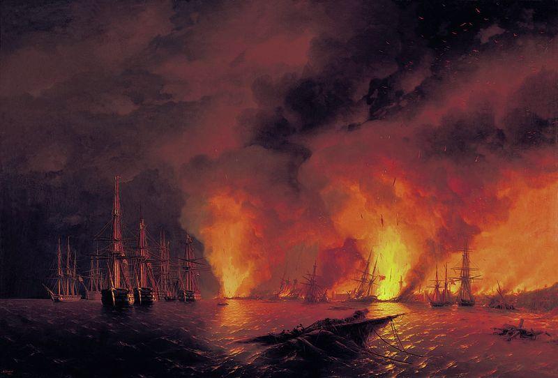 Айвазовский И. К.. «Синоп. Ночь после боя 18 ноября 1853 года.