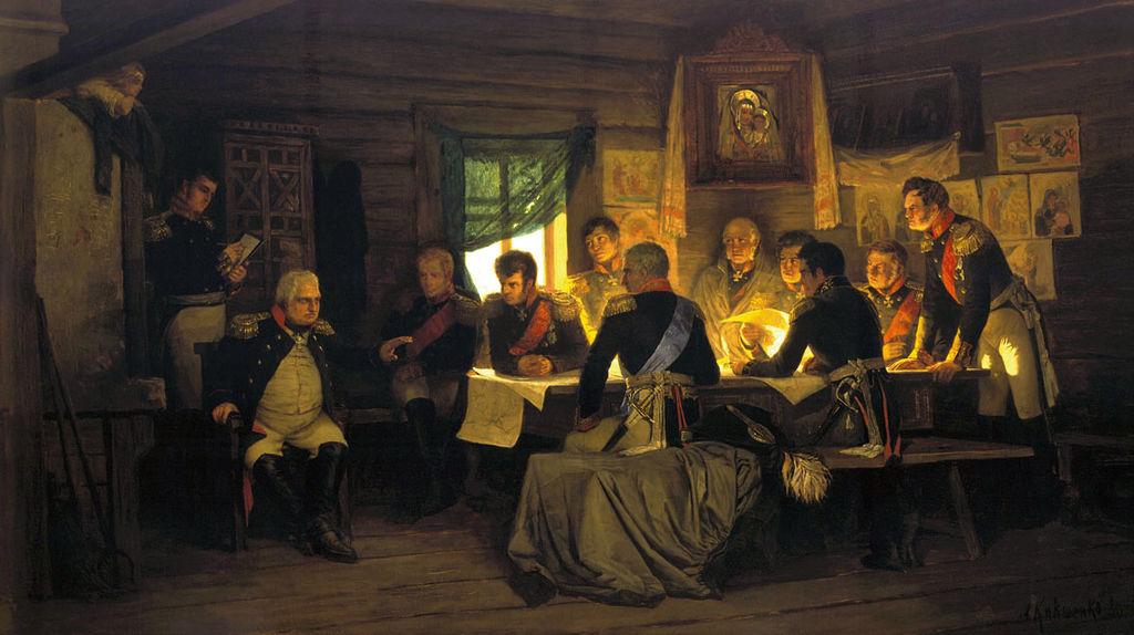 Алексей Кившенко «Военный совет в Филях» (1880)