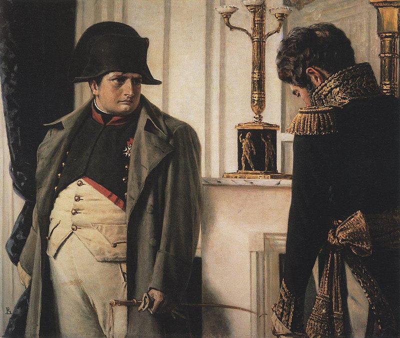 Наполеон и генерал Лористон (Мир во что бы то ни стало). Худ. Верещагин (ок. 1900)