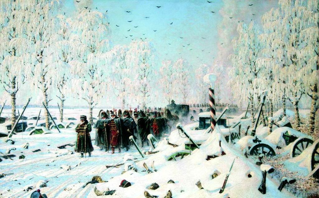 На большой дороге. Отступление, бегство … Верещагин, 1887—1895