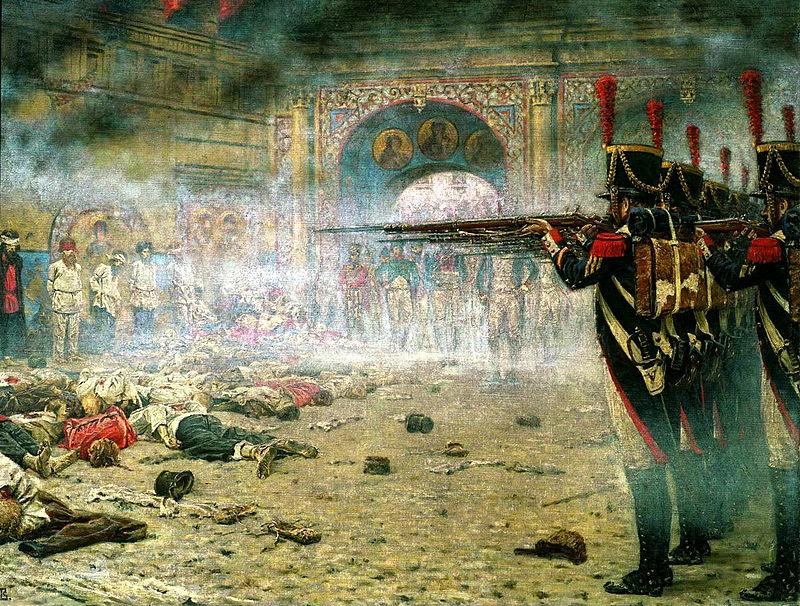 Расстрел предполагаемых поджигателей Москвы французами. Верещагин (1898)