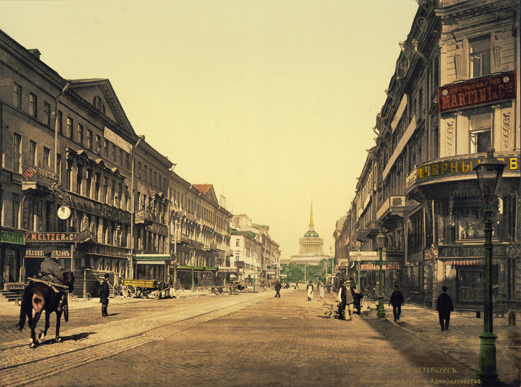 SPB_Nevsky_Prospekt_and_Admiralty_1890-1900