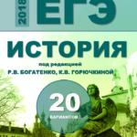 ЕГЭ-2018 История. 20 типовых вариантов