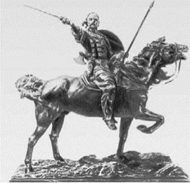 10. князь святослав. скульптор Е.А. Лансере