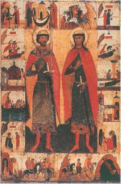 11. Борис и Глеб. икона 15 века