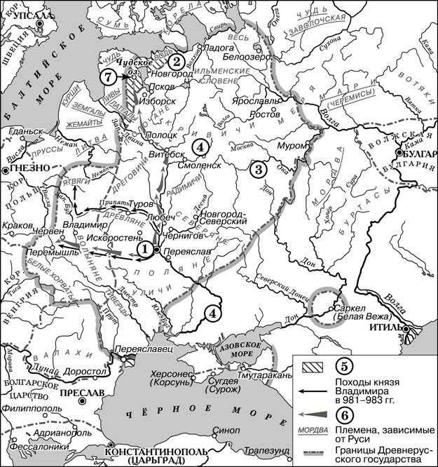 карта 10 в.