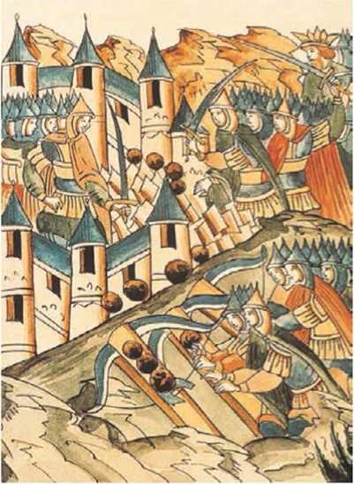 13. Осада монголами козельска