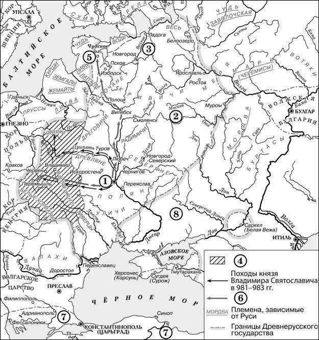 карта древности