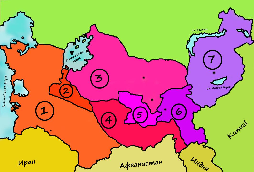 Средняя Азия Присоединение Средней Азии 19 век тест