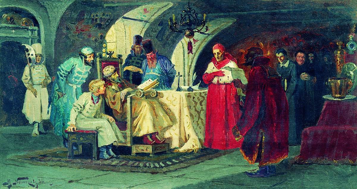 16. 1550е гг. на приеме у царя